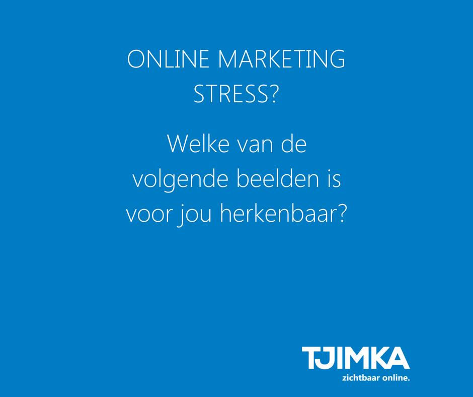 Online marketing stress?