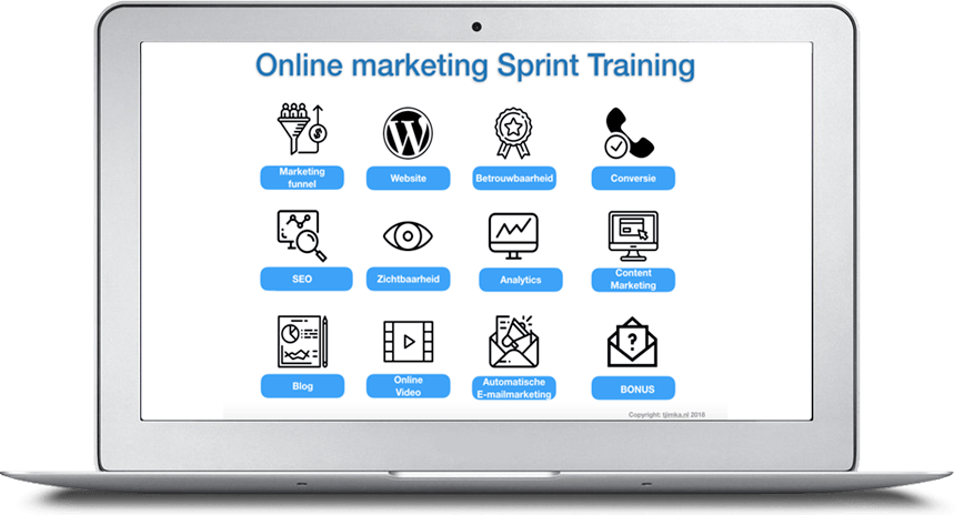 Tjimka.nl | Online marketing Sprint Training