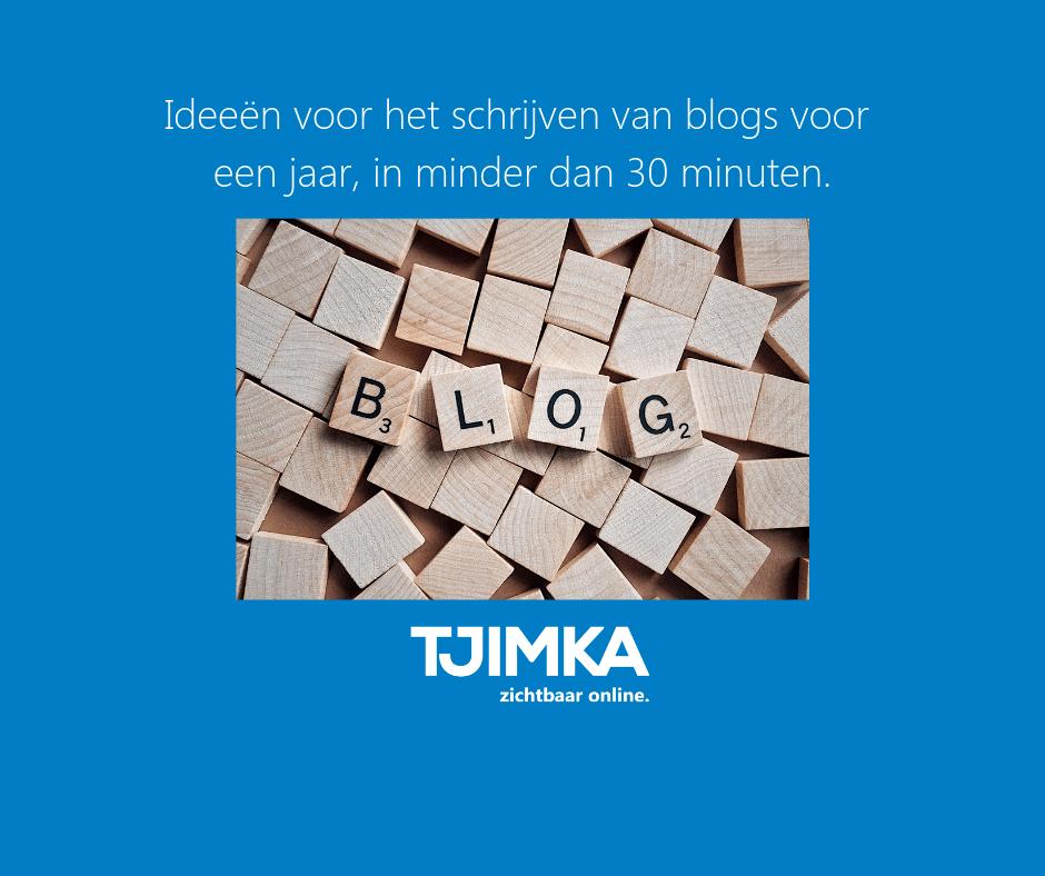 Tjimka.nl-FB Ideeën voor het schrijven van blogs voor een jaar in minder dan 30 minuten
